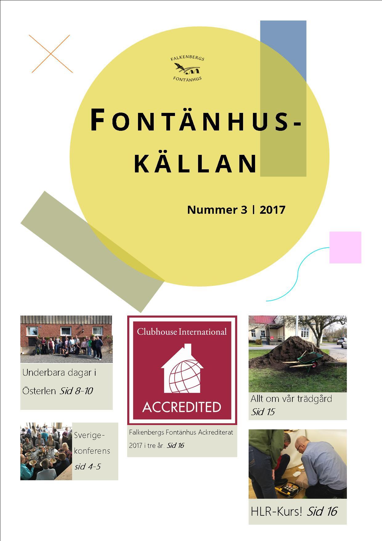 Nytt nummer av tidningen Fontänhuskällan