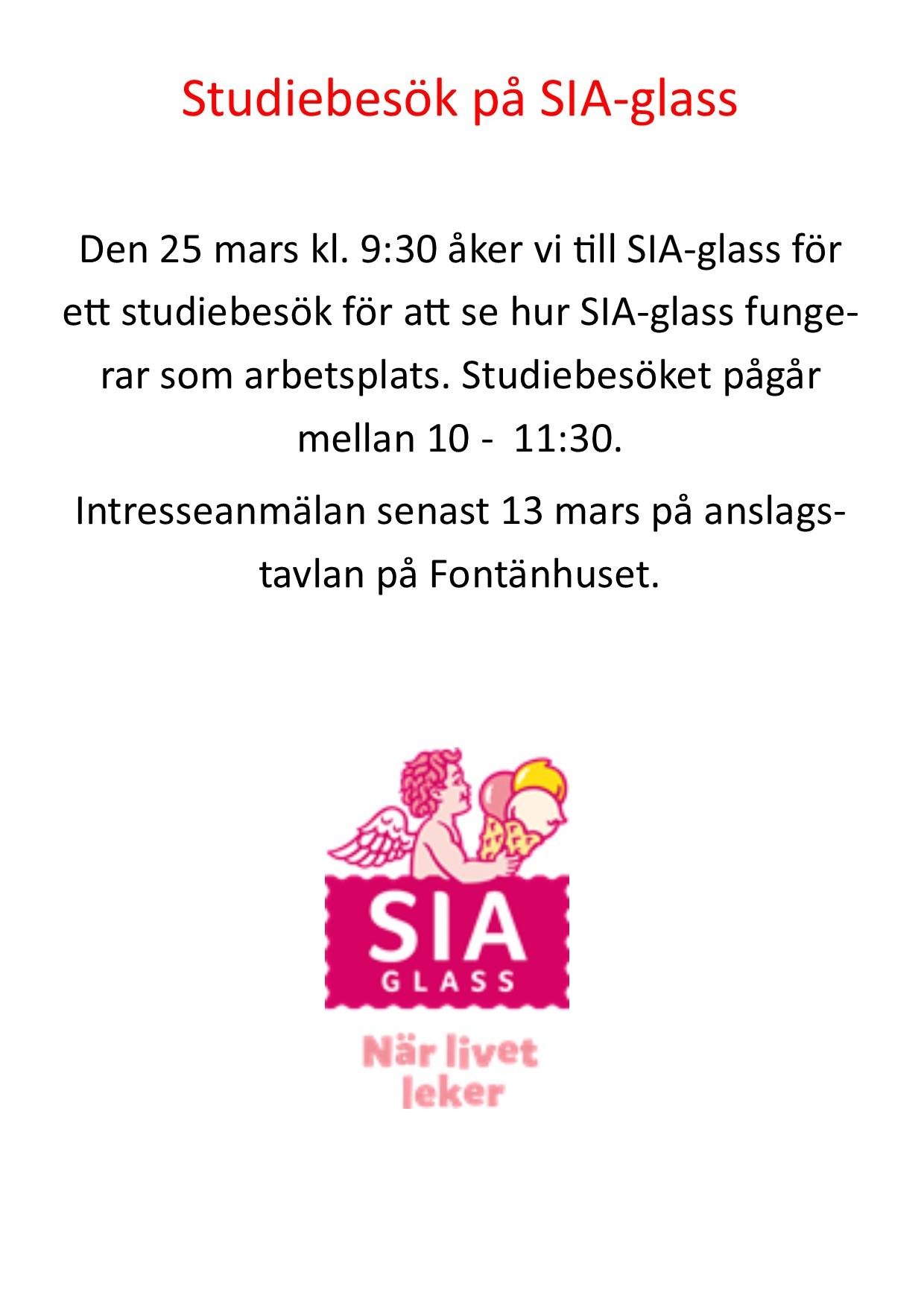 Studiebesök på SIA-glass